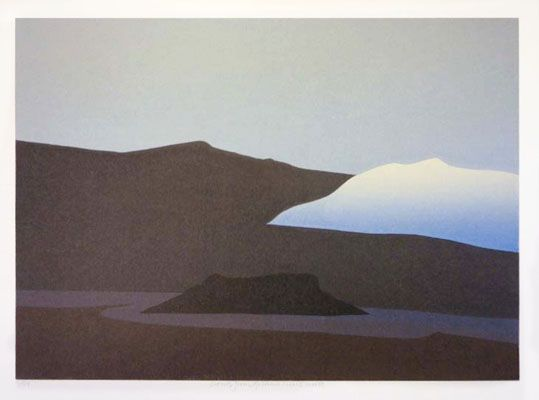 "Toni Onley,  ""Cloud From Gailano / Coast Suite"",  Ed 5/54,  Silkscreen Print,  11 x 15 inches"