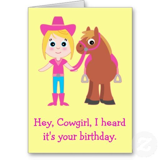 My Little Pony Birthday Quotes: Happy Birthday, Cowgirl For Granddaughter Card