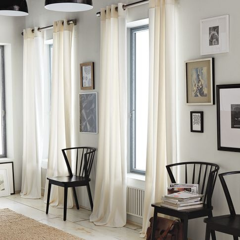Window treatments & art