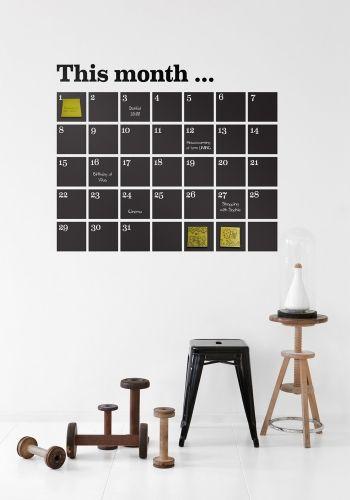 calendar whiteboard
