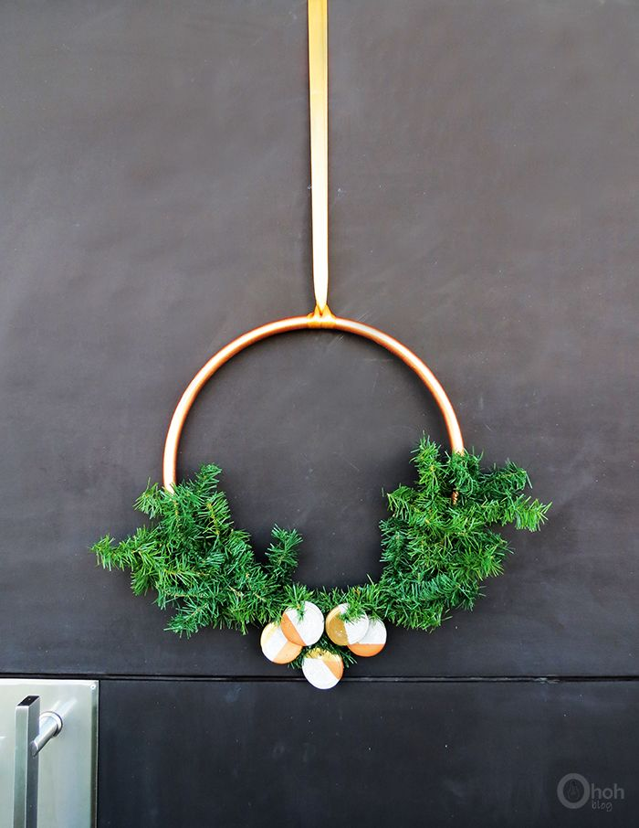Ohoh Blog - diy and crafts: DIY modern Christmas wreath