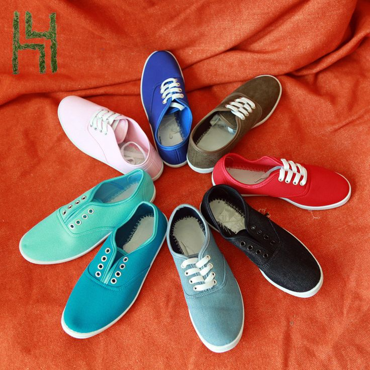 Colorful Running girs school sport canvas shoes slip on style