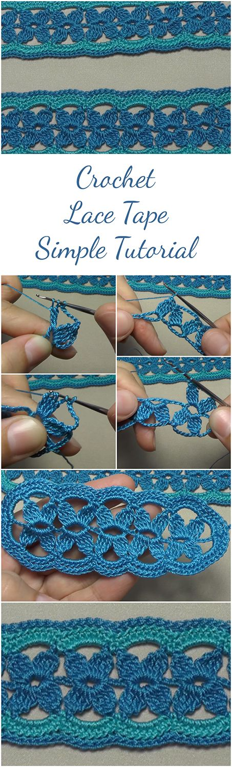 Amazing tutorial for those who want to learn how to crochet the lace tape by following an easy and free video tutorial, especially great for beginners. | Free Crochet Tutorial | Crochet Video Tutorial | Easy Crochet Tutorial For Beginners | Crochet For Beginners | Crochet Patterns | Crochet Stitches | DIY Crochet | #crochetlove #crocheters #crochettutorial #yarnlove