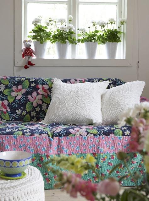 Wonderfully colourful sofa throw