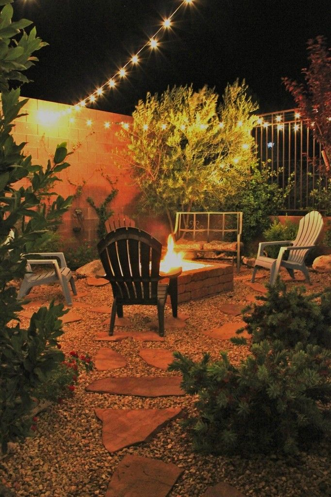 EV~ I like the peagravel used with stone. ( I would like an in- ground firepit-very casual). And, the layout for stone to match side yard.