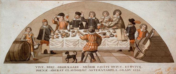 Doktor Faust mit Studenten und Musikanten in Auerbachs Keller 1525