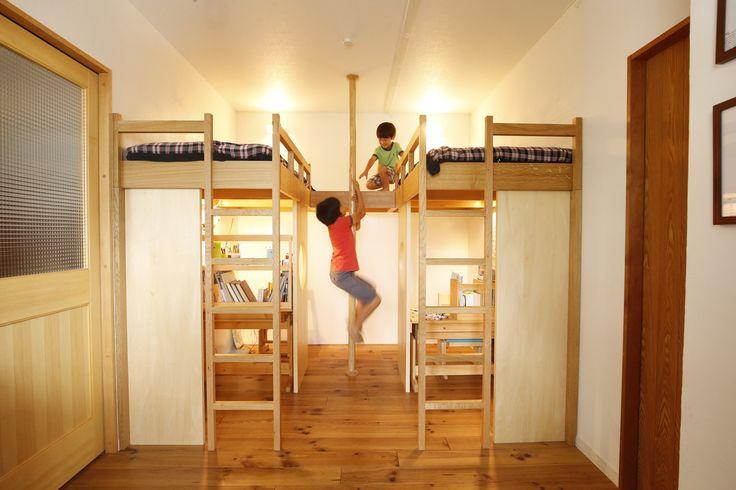 リフォーム・リノベーションの事例|子供部屋|施工事例No.462のぼり棒付きの楽しいロフトベッド!|スタイル工房