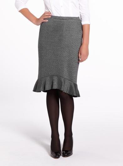 Frill Hem Dress Skirt   Women   Shop Online at Reitmans #ReitmansJeans