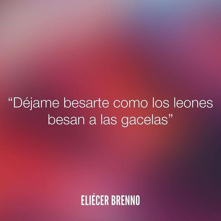 Déjame besarte como los leones besan a las gacelas Eliécer Brenno  La Causa http://ift.tt/2ggOU9J  #besos #quotes #writers #escritores #EliecerBrenno #reading #textos #instafrases #instaquotes #panama #poemas #poesias #pensamientos #autores #argentina #frases #frasedeldia #lectura #letrasdeautores #chile #versos #barcelona #madrid #mexico #microcuentos #nochedepoemas #megustaleer #accionpoetica #colombia #venezuela Descubra Lendas da Literatura no E-Book Gratuito em…