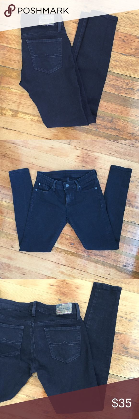 Ralph Lauren Jeans Demin & Supply black skinny jeans by Ralph Lauren. Only worn once! Size 25/30! Denim & Supply Ralph Lauren Jeans Skinny