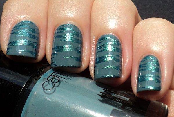 New York Darling Nails - Glamorous Turqoise Nail Art