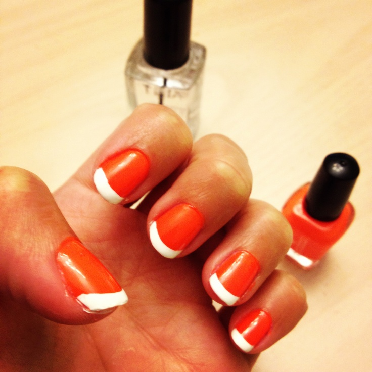 The 15 best nail designs images on Pinterest | Reverse french nails ...