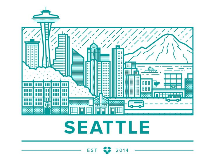 Dropbox Seattle by Brandon Land #Design Popular #Dribbble #shots