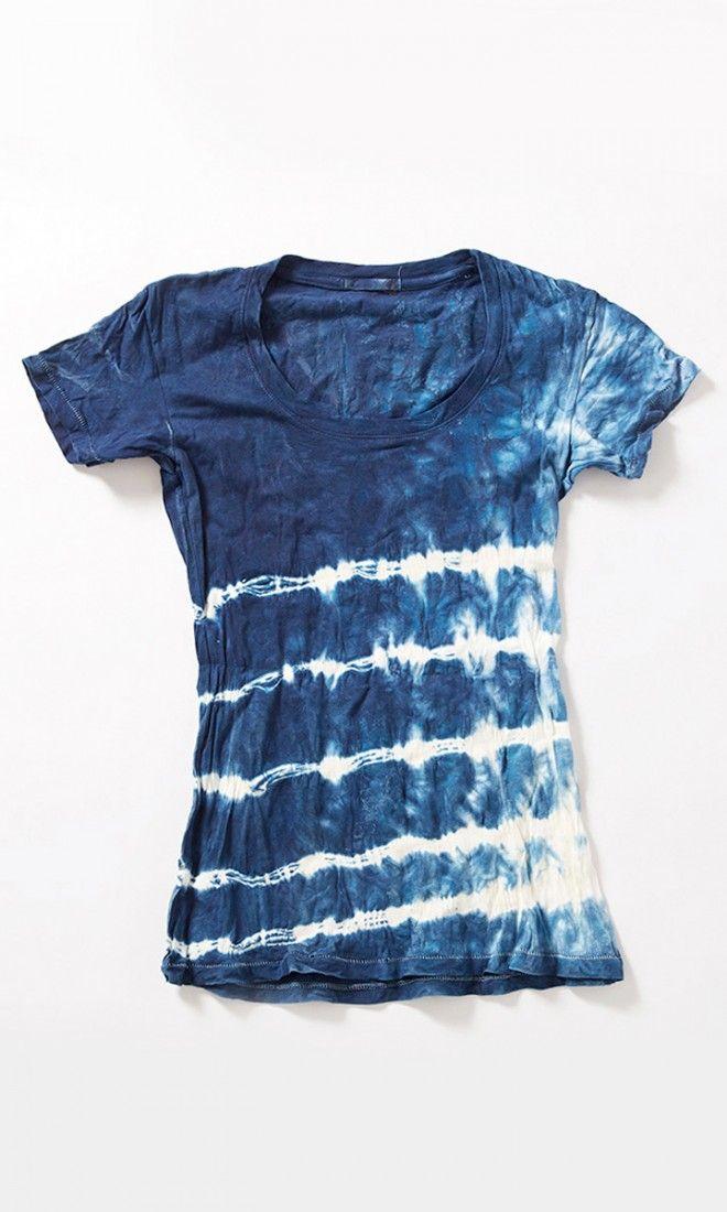 DIY: dyed shirt #shibori #indigo