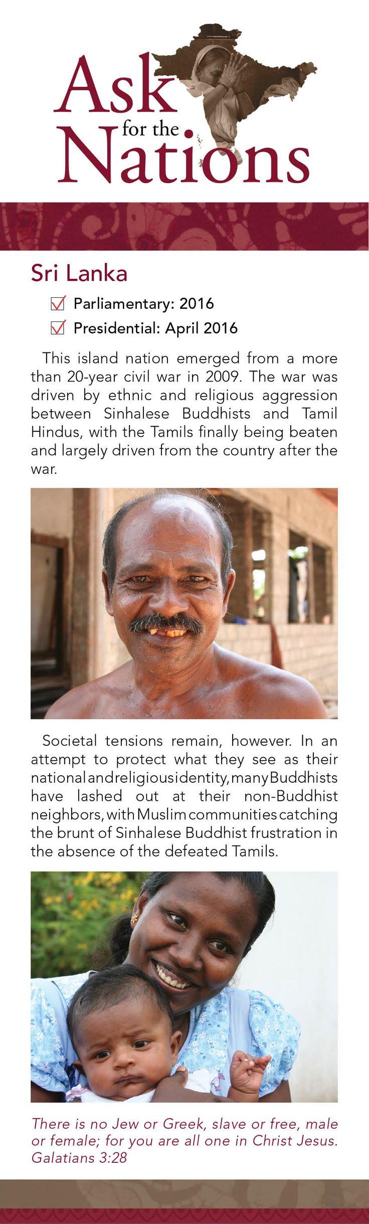 Sri Lanka is still healing from a brutal civil war - will you pray for them?