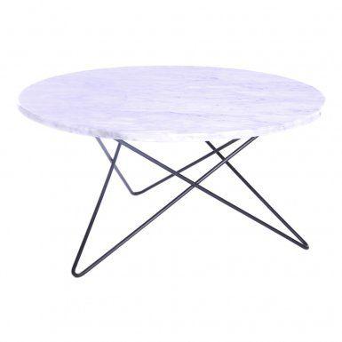 O Table Marmor White Carrara Soffbord | OX Design | Länna Möbler | Handla online