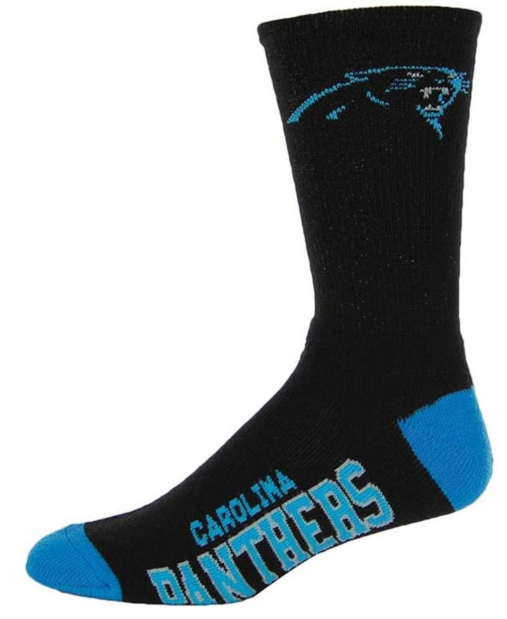 For Bare Feet Carolina Panthers Deuce Crew Socks