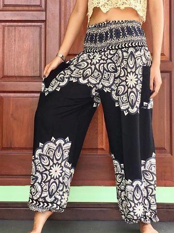 1a3ed675f78 womens casual black balloon summer trousers 2 pockets - best harem cargo  girls pants yoga pants