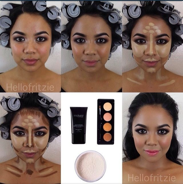 How to contour a round face !