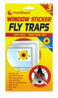 PESTSHIELD WINDOW STICKER  FLY TRAPS 3 PACK