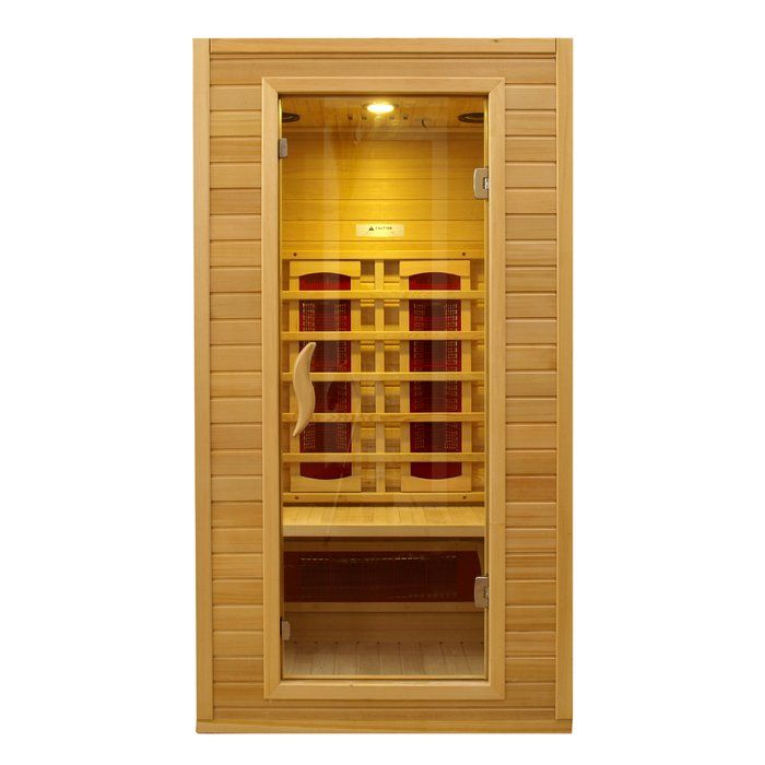 The Dynamic Infrared 1-2 Person FAR Infrared Sauna has four efficient heaters that can create the ideal environment. It has a removable seating bench that is ideal for a one person to use. It has two full length side windows and a tempered glass door. It has an adjustable temperature with a range of 90 to 140 degrees. The 1-2 Person FAR Infrared Sauna I from Dynamic Infrared is made from premium quality hemlock and it is burnished with a honey finish. This energy saving sauna has an…