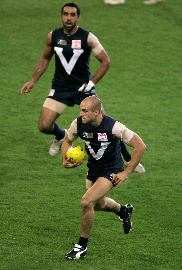 In action for Victoria during the Hall of Fame Tribute match between Victoria and the Dream Team at the MCG in 2008.