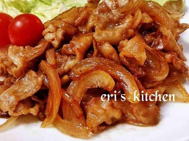 お弁当にも♪豚バラと玉ねぎの照り焼き炒めの画像