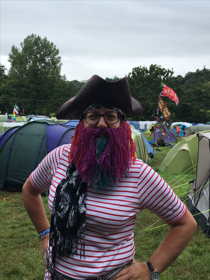 Pirate beard for Beautiful Days festival modelled by Alison
