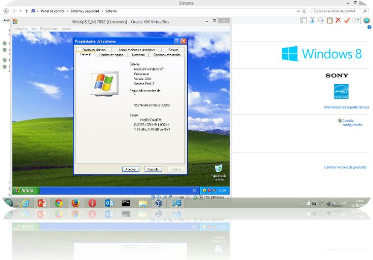 Máquinas Virtuales con Virtual Box: Windows Xp sobre Windows 8.1