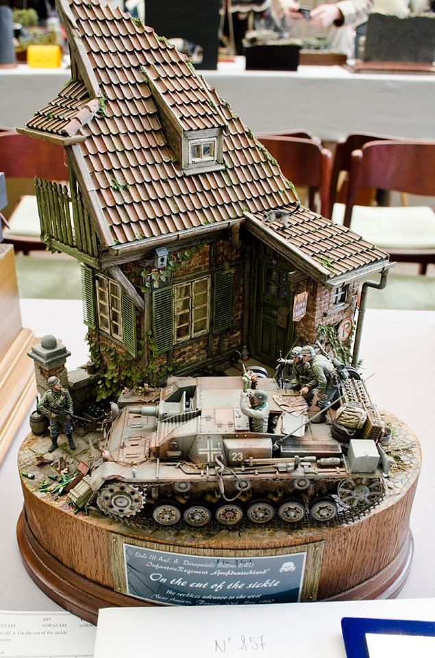 WWII Military diorama - you can pick up Diorama Accessories and Military Miniatures at www.treefrogtreasures.com