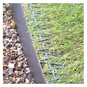 Smartedge Plastic Lawn Edging once installed will remove the need to continually maintain lawn borders. Made from black UV and frost proof polypropylene and will not crack or fade. http://www.harrodhorticultural.com/smartedge-plastic-lawn-edging-pid7801.html