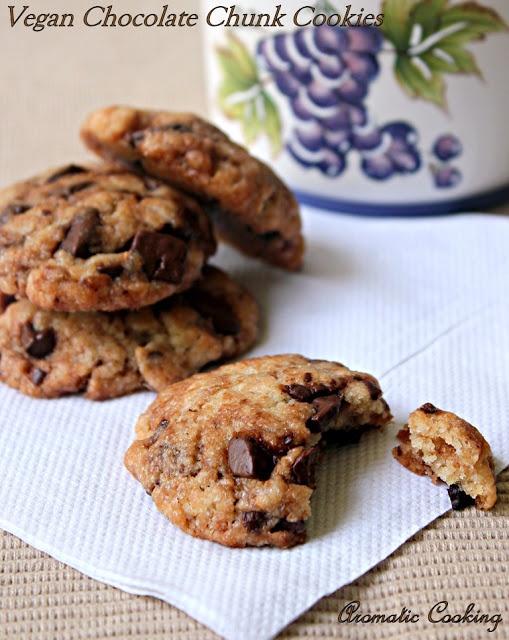 Aromatic Cooking: Vegan Chocolate Chunk Cookies
