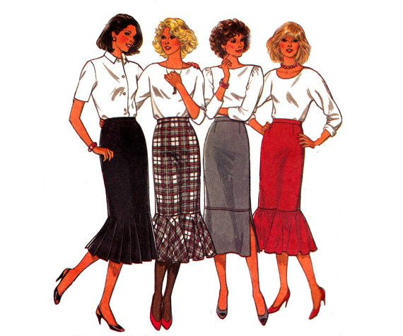 80s Skirt Pattern Style 4217 Flounced by allthepreciousthings