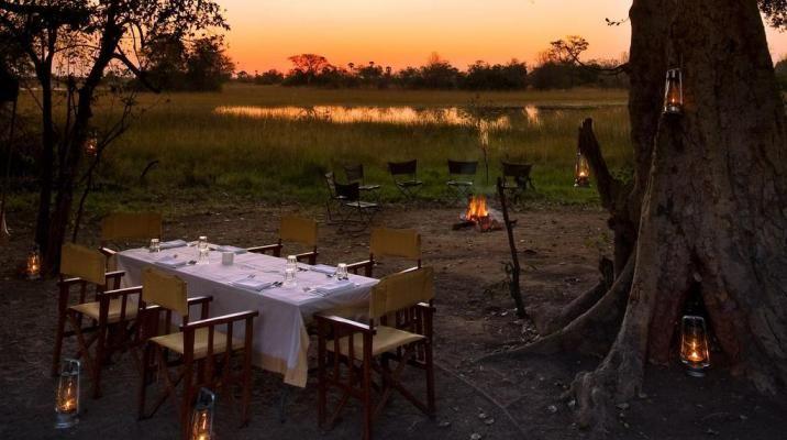 Aftenstemning på Botswana ekspeditionen
