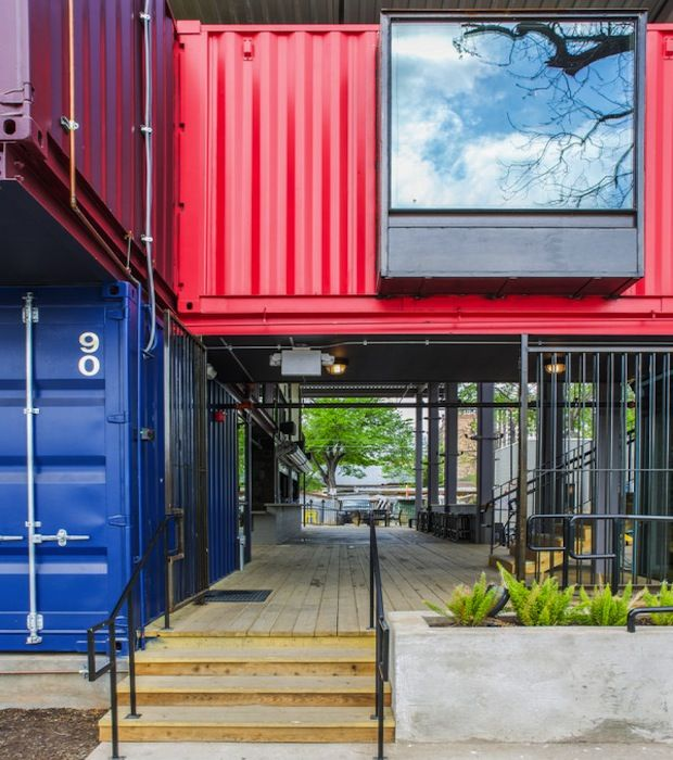 Texas bar built from seven colourful shipping containers architecture and design iso - Container homes austin ...