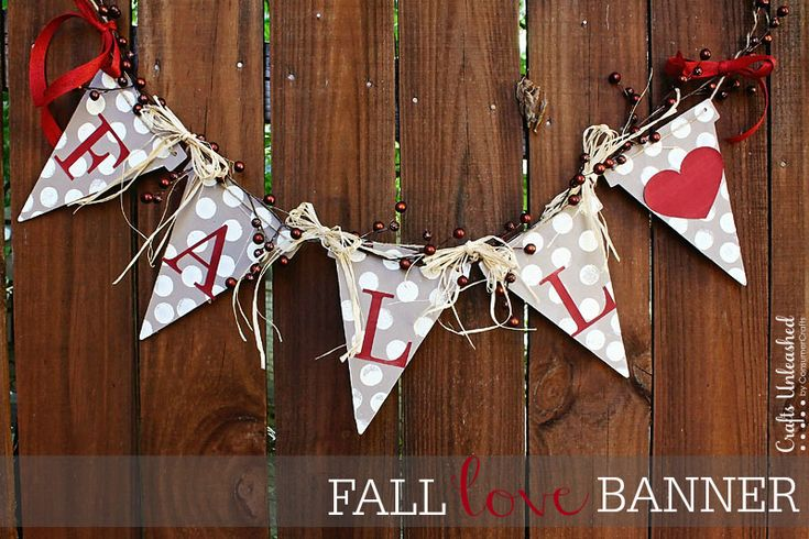 Make Your Own Simple & Pretty Fall Banner