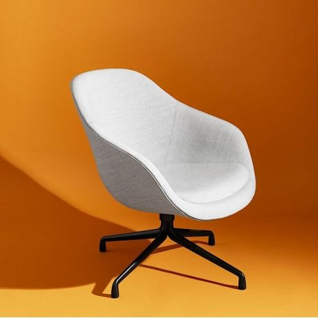 ABOUT A LOUNGE CHAIR   Ref. AAL81   Low Backrest, Swivel Base In Cast