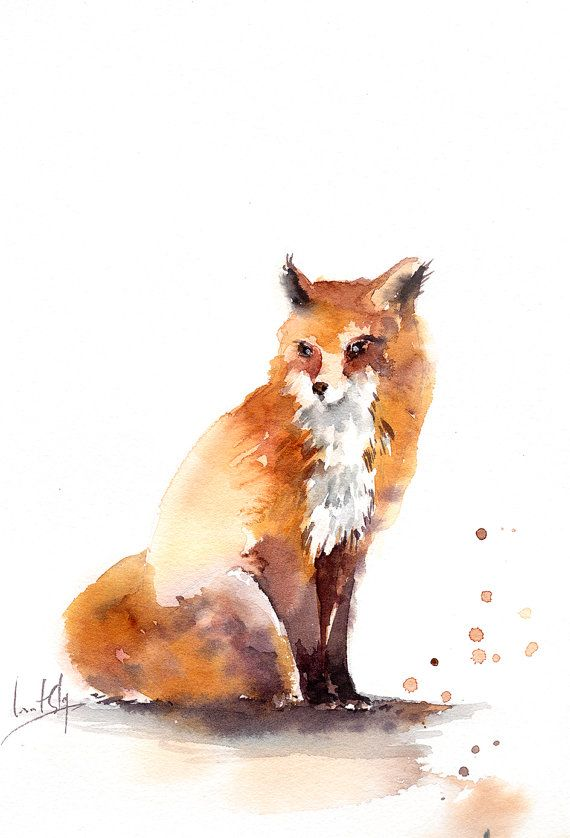 Fox Painting Watercolor Liste Peintres Francais Wikipedia