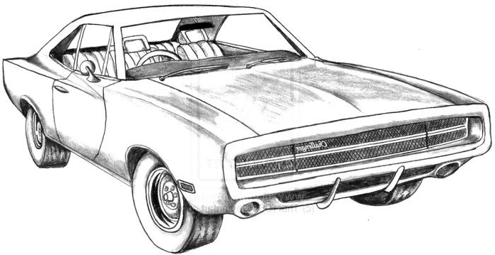 Challenger Car Coloring Pages : Dodge challenger g t coloring page teacher stuff