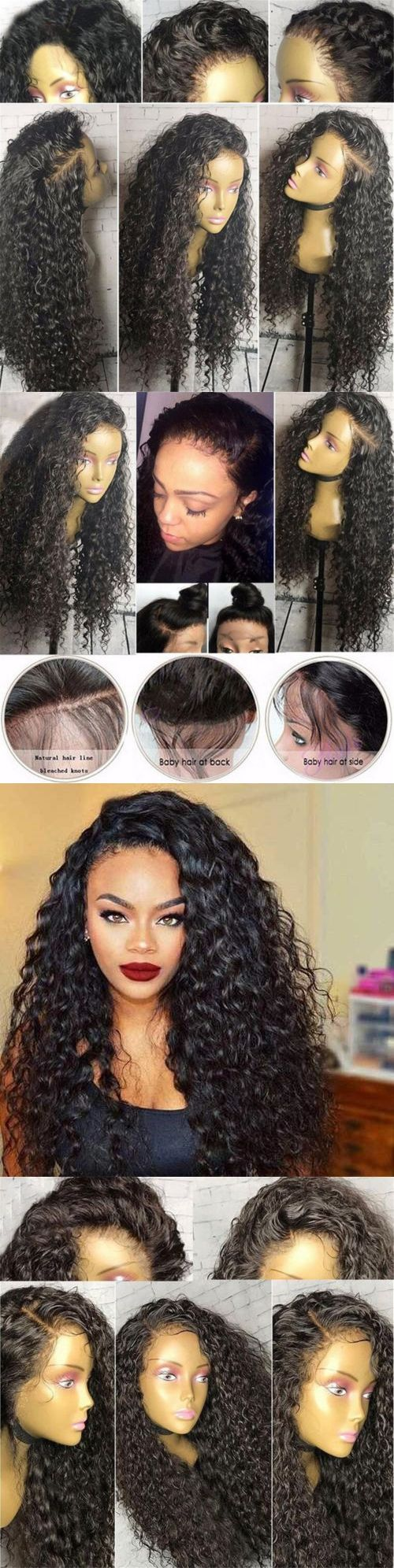 Wigs and Hairpieces: Women Kinkly Curly Black Hair Wig Synthetic Lace Front Wigs Natural Looking Wigs -> BUY IT NOW ONLY: $36.79 on eBay!