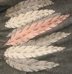 Hand stitched & repurposed cashmere feathers (shrug).