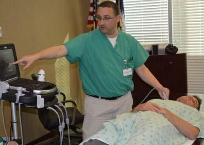 The Laurens County Hospital Foundation has bought a portable ultrasound machine for use by the hospitalists at the Laurens County Memorial Hospital (LCMH).
