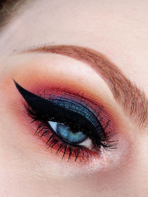 Makeup Geek Eyeshadows in Early Bird, Simply Marlena, Bitten and Shimma Shimma + Makeup Geek Duochrome Eyeshadow in Secret Garden. Look by: Nicola Kate