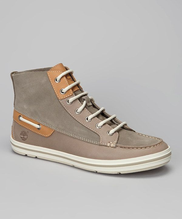 Take a look at this Timberland Gray Casco Bay Hi-Top Sneaker on zulily today!