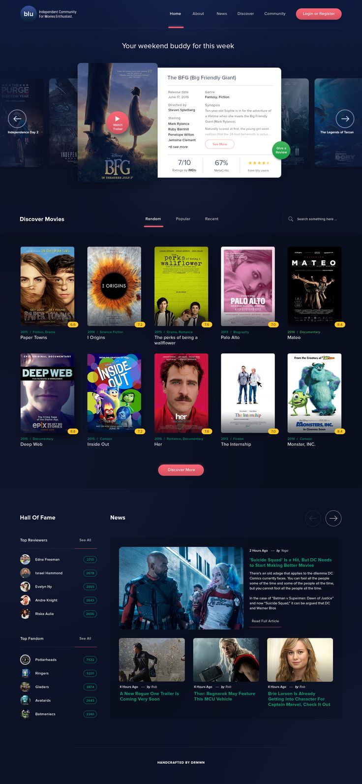 Movies Site – User interface by Aji Darmawan