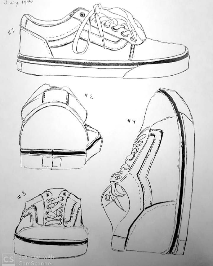 How To Draw Vans Shoes : shoes, Behind, Scenes, Msbcreate, Sneakers, Sketch,, Drawing,