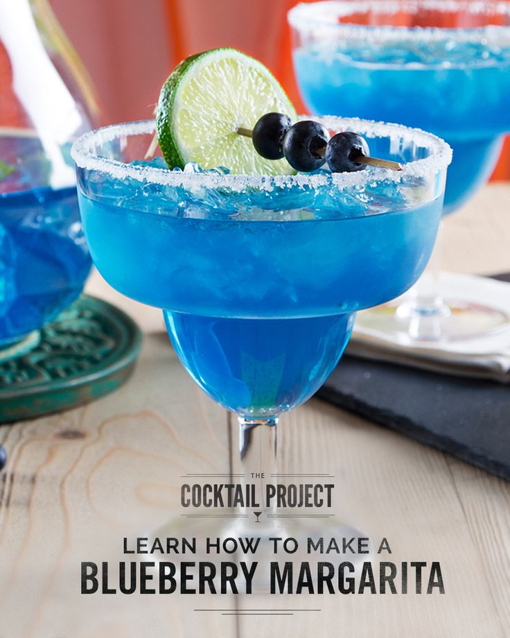Eye-catching and delicious, the blueberry margarita is a colorful twist on the classic favorite. Take DeKuyper® Blueberry Schnapps Liqueur, which captures the taste of fresh, ripe blueberries in a cocktail glass, and combine it with sour mix and smooth Sauza® Tequila for a blueberry cocktail that's fresh, cool and goes perfectly with your favorite spicy meals and appetizers. For the full recipe, visit TheCocktailProject.com