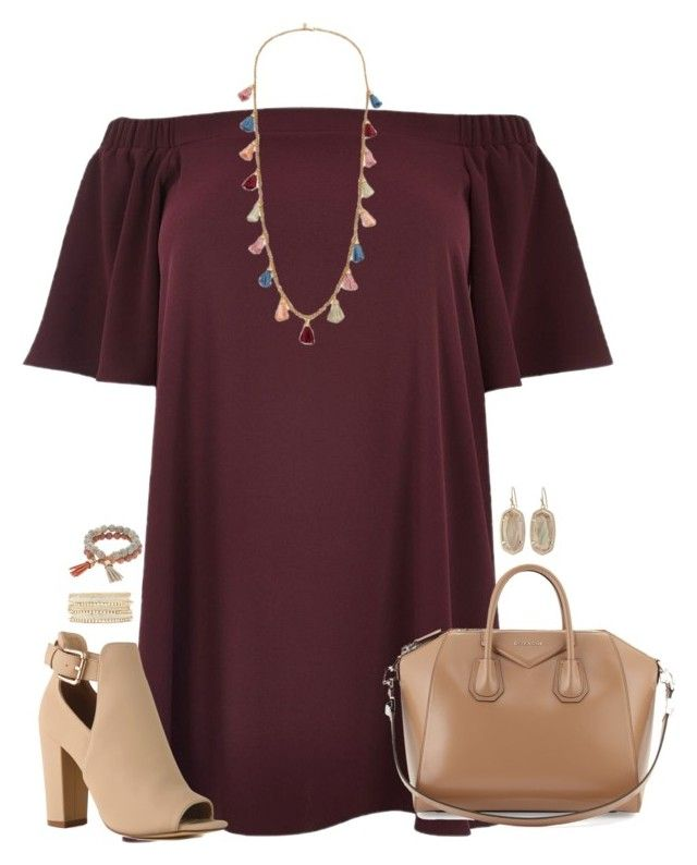 """""""❣︎"""" by kaley-ii ❤ liked on Polyvore featuring River Island, Ben-Amun, Givenchy, Charlotte Russe, Coco Lane, Kendra Scott and plus size dresses"""