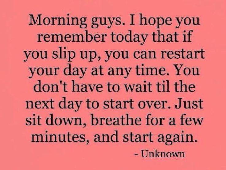 Jó reggelt! Remélem emlékszel ma arra, hogy ha valamit elrontottál, akkor bármikor újrakezdheteted a napod. Az újrakezdéssel nem kell várni a következő napig . Csak ülj le, vegyél néhány mély lélegzetet és kezd újra!  Доброе утро! Я надеюсь что, вы спомните, сегодня: если ошиблись, вы всегда можете начать заново свой день. Вы не должен ждать с новым стартом до следующего дня. Просто сядьте, сделайте глубокий вдох и начайте все заново!   #diamondlifestyle #mindsetplus