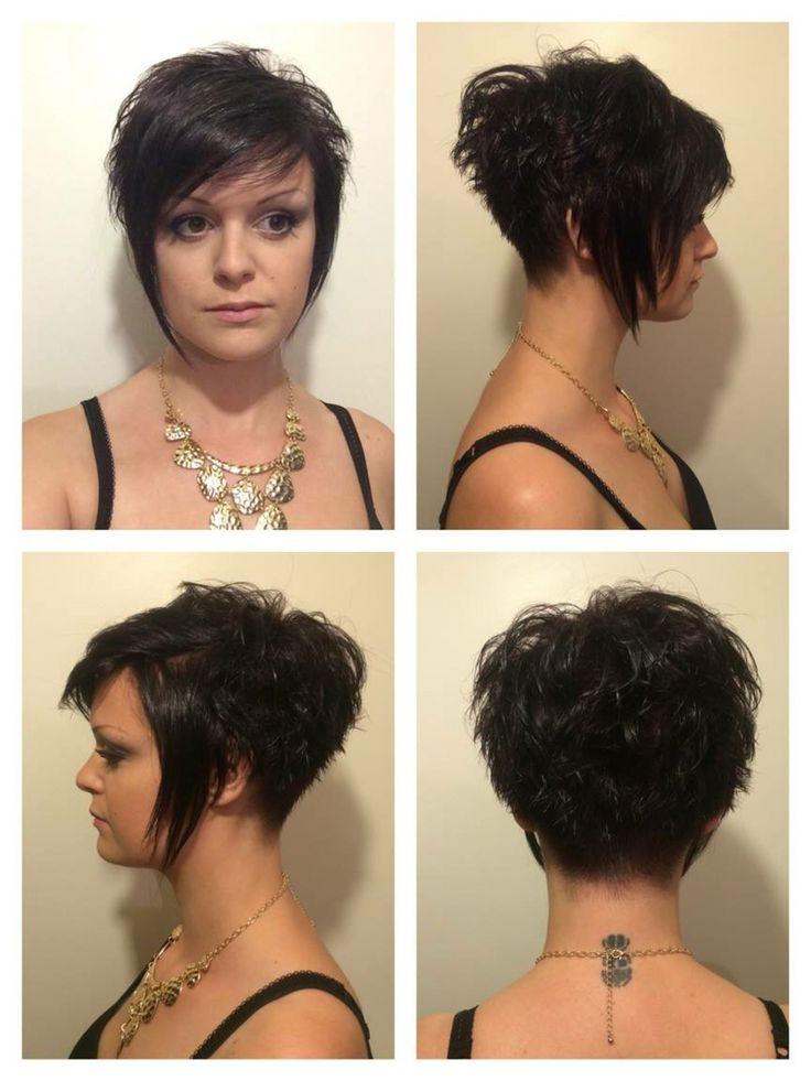 Coupe courte femme, rasé derrière et long devant